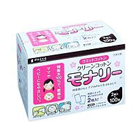 オオサキメディカル クリーンコットン モナリー 100包 ×12個【イージャパンモール】