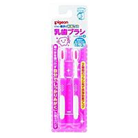 ピジョン 乳歯ブラシ レッスン段階4 ピンク (2本入) ×100個【イージャパンモール】