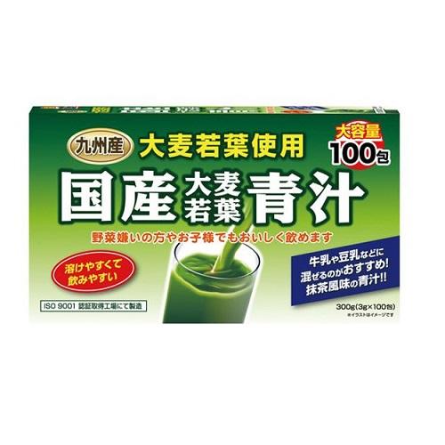 ユーワ 国産大麦若葉青汁(3gx100包)  ×18個【イージャパンモール】