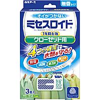 白元アース ミセスロイドクローゼット用3個入 1年防虫 ×30個【イージャパンモール】