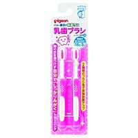 ピジョン 乳歯ブラシ レッスン段階4 ブルー (2本入) ×100個【イージャパンモール】