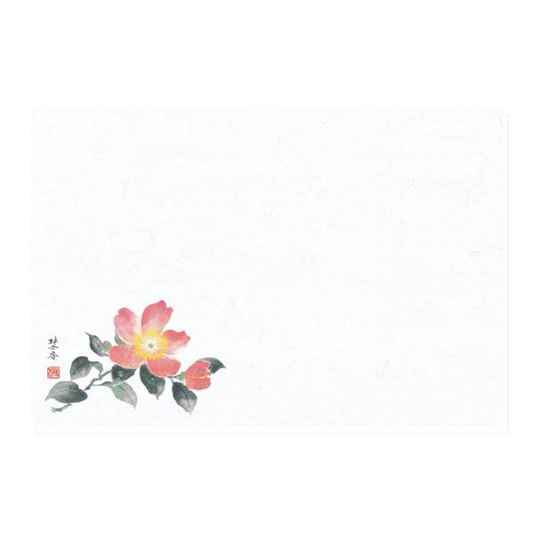テーブルマット 40山茶花 100 (1000枚)【イージャパンモール】