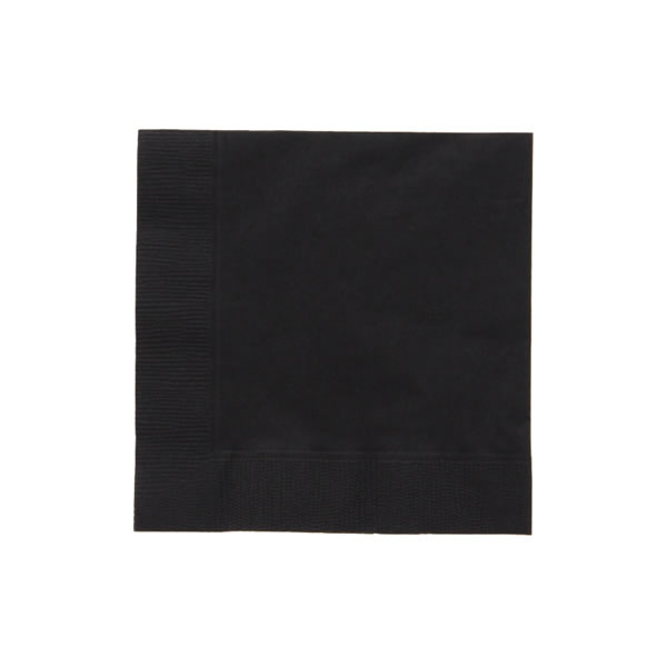 25cm 2plyナプキン ブラック (3000枚)【イージャパンモール】