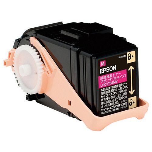 【キャッシュレス5%還元】EPSON 環境推進トナー マゼンタ Mサイズ LPC3T33MV 1個