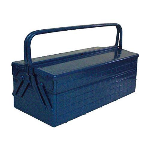 【キャッシュレス5%還元】TRUSCO 2段式ツールボックス(トレー付) ブルー 472×220×289mm 1個