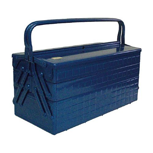 TRUSCO 3段式ツールボックス(トレー付) ブルー 472×220×343mm 1個