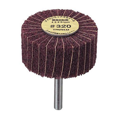 TRUSCO ナイロンミックスホイール(軸径φ6mm) #400 1箱(5個)