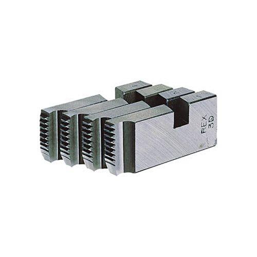 【キャッシュレス5%還元】レッキス工業 ラチェット式オスタ型パイプネジ切器 替刃チェーザ(1組4枚) 寸法15A20A 1セット
