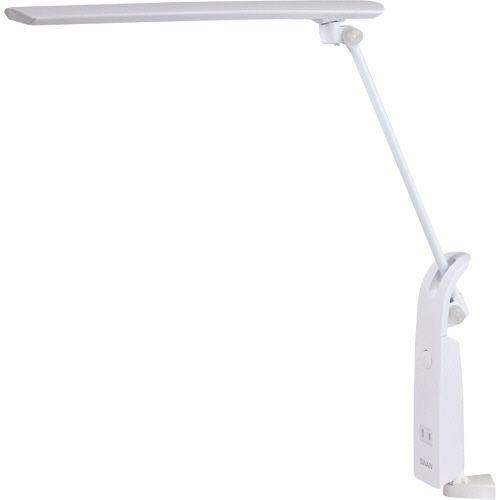 【キャッシュレス5%還元】【送料無料】【法人(会社・企業)様限定】スワン電器 LEDデスクライト クランプ式 14W 1350Lx ホワイト 1台