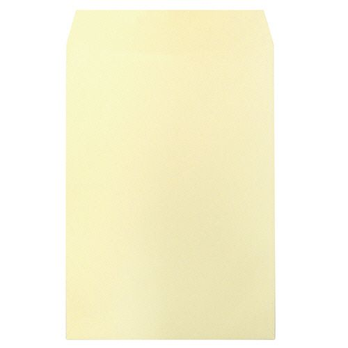 【キャッシュレス5%還元】【送料無料】【法人(会社・企業)様限定】heart 透けないカラー封筒 テープ付 角2 パステルクリーム 1セット(500枚:100枚×5パック)
