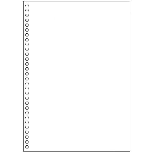 【キャッシュレス5%還元】【送料無料】【法人(会社・企業)様限定】マルチプリンタ帳票(FSC森林認証紙) A4白紙 30穴 1セツト(1000枚:500枚×2箱)