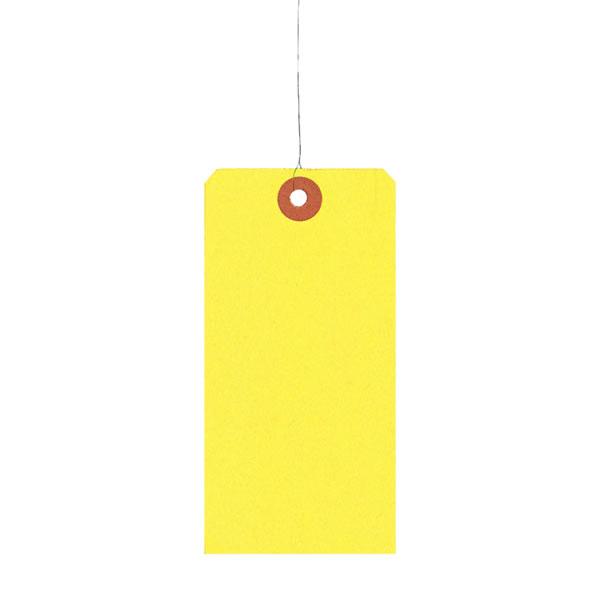 【キャッシュレス5%還元】荷札 2号 黄色 60×120MM (30000枚)【イージャパンモール】