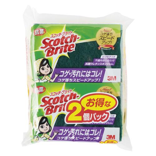 スリ-エムジャパン スコッチブライト抗菌ウレタンスポンジ2個 S-21KS 2PM ×30個【返品・交換・キャンセル不可】【イージャパンモール】