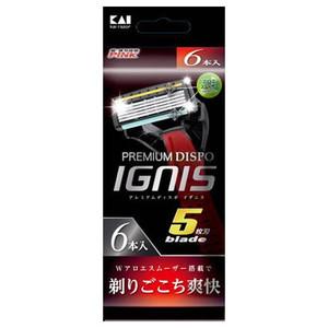 貝印 PREMIUM DISPO IGNIS 6P ×72個【イージャパンモール】