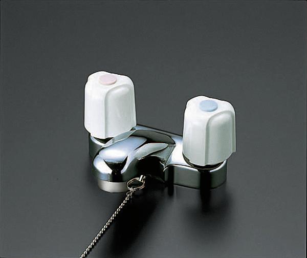 【キャッシュレス5%還元】KVK KM66G 洗面2ハンドル混合栓 栓付【イージャパンモール】