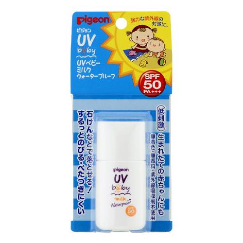 ピジョン(株) UVベビーミルクウォータープルーフ SPF50+ 20g ×30個【イージャパンモール】