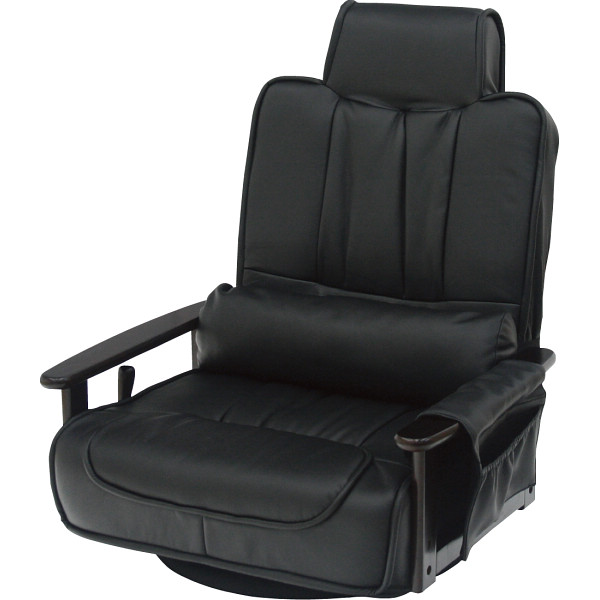 【送料無料】木製肘付 回転座椅子 83-865BK【代引不可】【ギフト館】