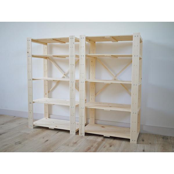 【送料無料】木製ラック5段2個組 ナチュラル TNMR-10560N-2P【代引不可】【ギフト館】