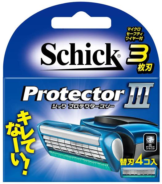 シック・ジャパン プロテクタースリー 替刃4コ入 ×288個【イージャパンモール】