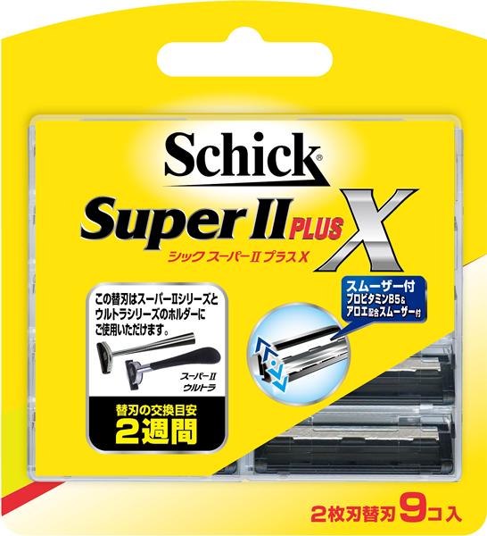 シック・ジャパン スーパーIIプラスX 替刃9コ入 ×288個【イージャパンモール】