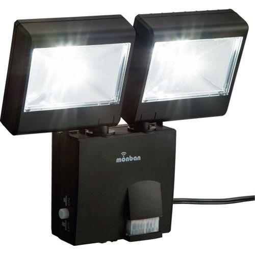 【キャッシュレス5%還元】【送料無料】【法人(会社・企業)様限定】オーム電機 LEDセンサーライト (ソーラー式 2灯4W) 1台