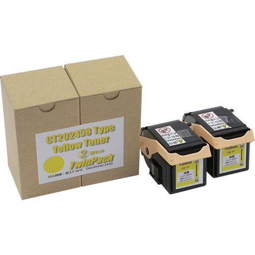 【キャッシュレス5%還元】ノーブランド トナーカートリッジ CT202458 汎用品 イエロー 1箱(2個)