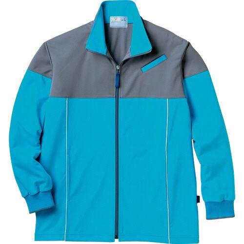 トンボ ケアワークジャケット スターフィット-LT防縮ニット ブルー 3L 日本正規代理店品 1着 メーカー再生品