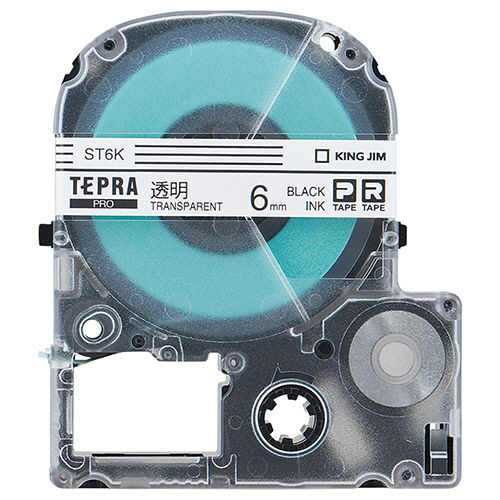 【キャッシュレス5%還元】【送料無料】【法人(会社・企業)様限定】KING JIM テプラ PRO テープカートリッジ 6mm 透明/黒文字 エコパック 1セット(30個:10個×3パック)