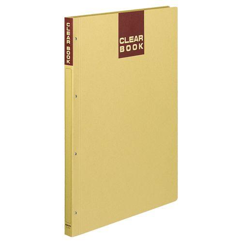 コクヨ クリヤーブック(クラフトタイプ・固定式) A3タテ 20ポケット 1セット(10冊)