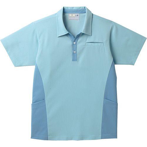 トンボ スキッパーシャツ CR155 グレイシュブルー 4Lサイズ 1着