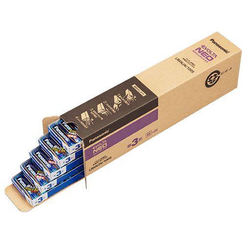 【キャッシュレス5%還元】【送料無料】【法人(会社・企業)様限定】パナソニック アルカリ乾電池 EVOLTAネオ 単3形 1箱(100本)