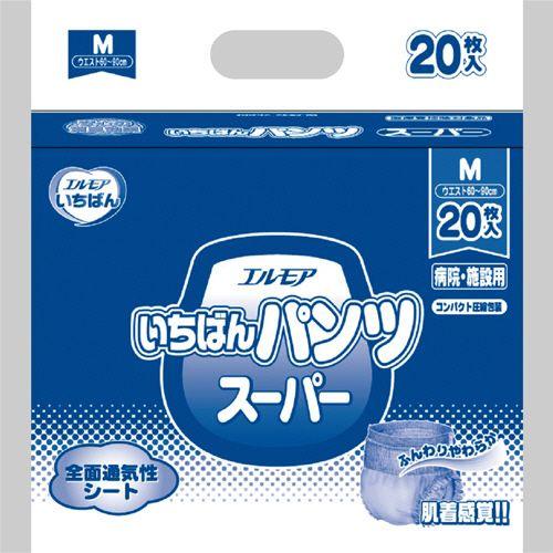 カミ商事 エルモア いちばん パンツ スーパー M 1セット(120枚:20枚×6パック)