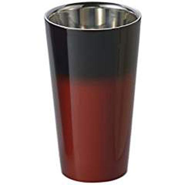 【キャッシュレス5%還元】食楽工房 漆磨 2重構造ストレートカップ(赤彩) SCW-L602【イージャパンモール】