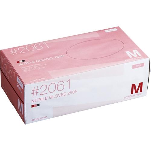 週間売れ筋 川西工業 ニトリル 使いきり手袋 ニトリル 粉なし ピンク ピンク 粉なし M 1セット(2500枚:250枚×10箱), CRISPIN(クリスピン):f09d021e --- fabricadecultura.org.br