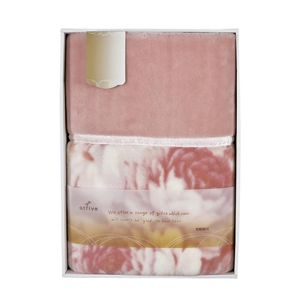 【送料無料】京都西川日本製 衿付きニューマイヤー毛布 ピンク 07-K2514【代引不可】【ギフト館】