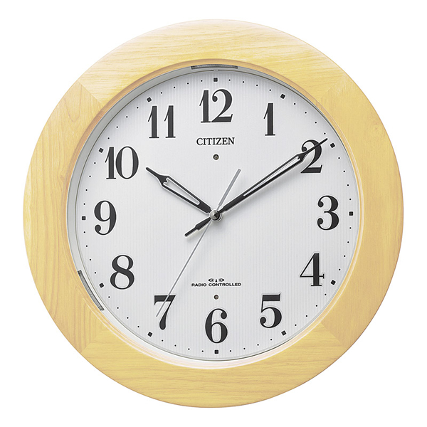 【送料無料】シチズン 自動点灯掛時計 薄茶半艶仕上 4MYA35-007【代引不可】【ギフト館】