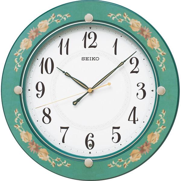 【送料無料】セイコー 電波掛時計 緑 KX220M【代引不可】【ギフト館】