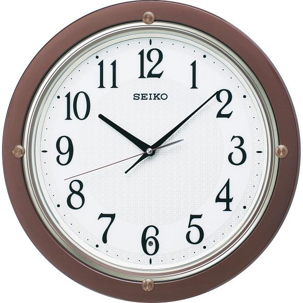 【送料無料】セイコー 電波掛時計 茶メタリック KX217B【代引不可】【ギフト館】