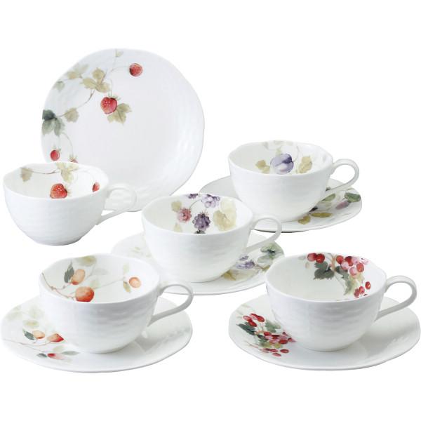【送料無料】ナルミ ルーシーガーデン アソートティー・コーヒー碗皿5客セット 96010-23067P【代引不可】【ギフト館】