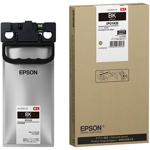 【キャッシュレス5%還元】EPSON インクパック ブラック IP01KB 1個