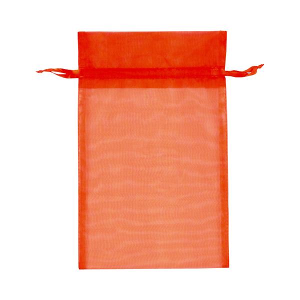 【キャッシュレス5%還元】オーガンジーバッグ L オレンジ (10束)【イージャパンモール】