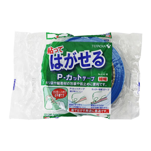 Pカットテープ No.4142 18X25 青 (84巻)【イージャパンモール】