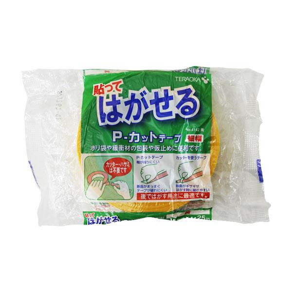 Pカットテープ No.4142 18X25 黄 (84巻)【イージャパンモール】
