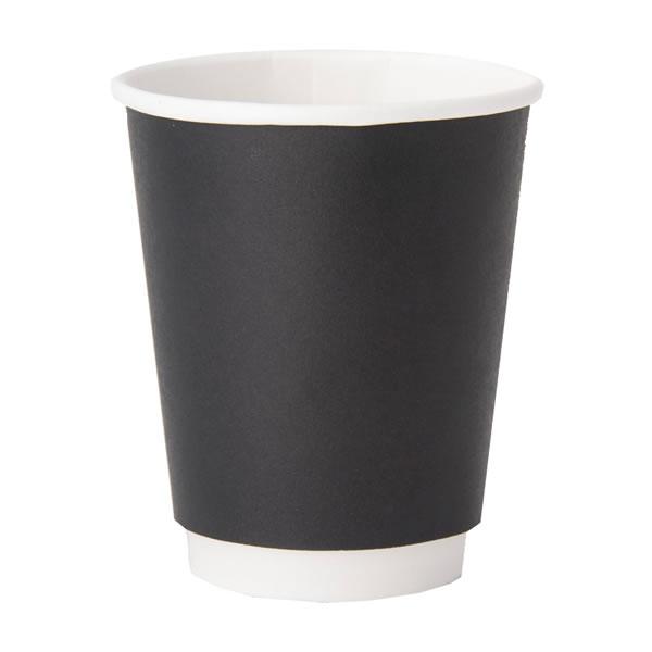 【キャッシュレス5%還元】ヘイコー二重断熱カップ 8オンス ブラック (1000個)【イージャパンモール】