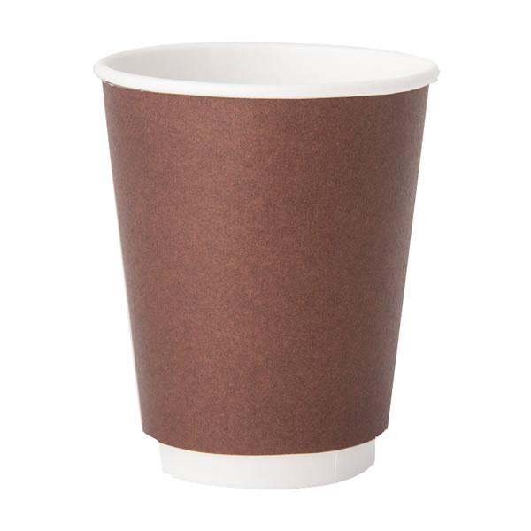【キャッシュレス5%還元】ヘイコー二重断熱カップ 8オンス ブラウン (1000個)【イージャパンモール】
