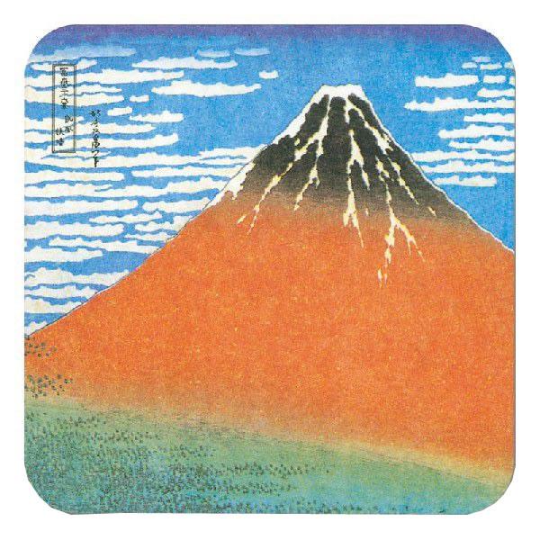 浮世絵コースター 3 赤富士 (2000枚)【イージャパンモール】