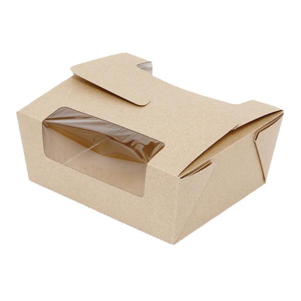 窓付フードBOX L クラフト (300枚)【イージャパンモール】