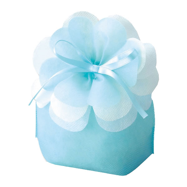 【キャッシュレス5%還元】LP070ブルーミング巾着 小 パステルブルー (400枚)【イージャパンモール】