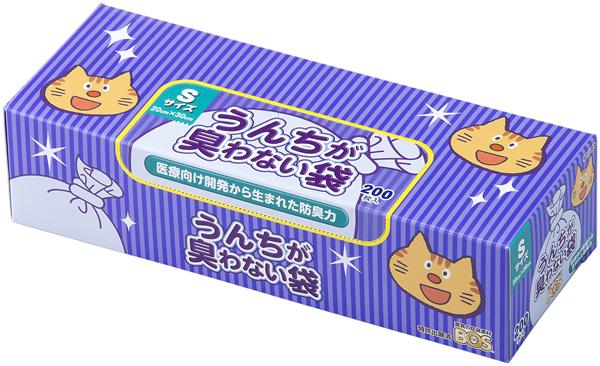 ★まとめ買い★ うんちが臭わない袋 BOS ネコ用 箱型Sサイズ 200枚入 ×20個【イージャパンモール】