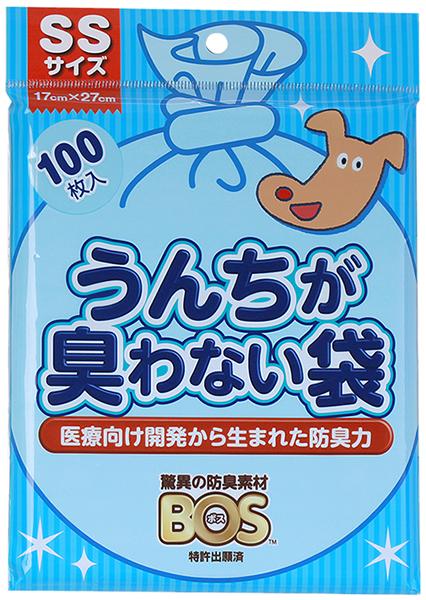 ★まとめ買い★ うんちが臭わない袋 BOS イヌ用 SSサイズ 100枚入 ×30個【イージャパンモール】